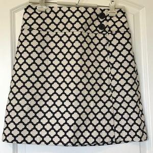 Talbots Black & Beige A-Line Skirt- NWOT